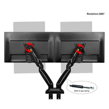 Load image into Gallery viewer, NB North Bayou Dual Arm Adjustable Monitor Desk Mount Stand | Monthly Madness