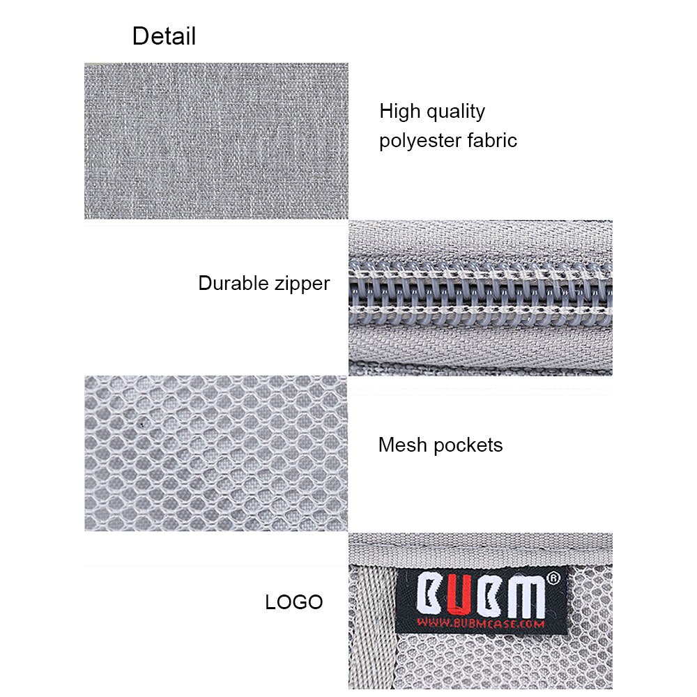 BUBM Portable Power Bank Travel Carry Case - Grey | Monthly Madness