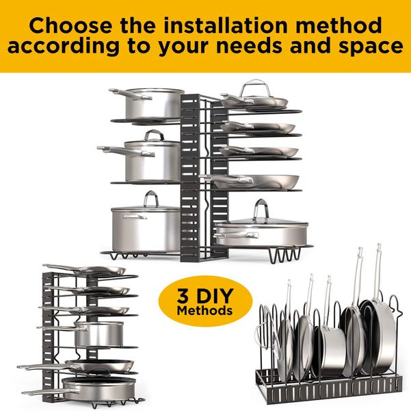Adjustable 8 Rack Pot and Pan Organiser | Monthly Madness