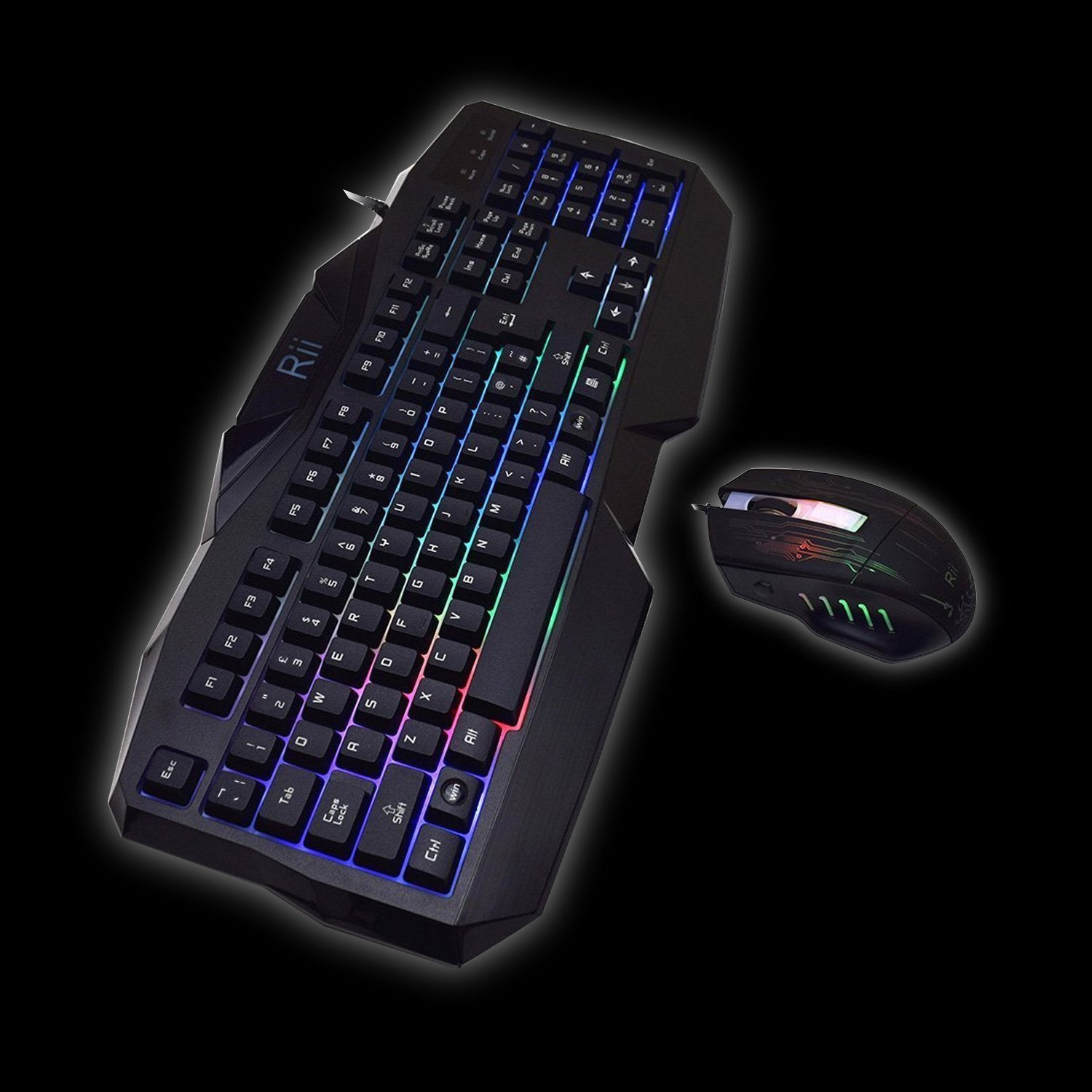 Rii RK400 7 Colour Backlit Gaming Keyboard & Mouse Combo | Monthly Madness