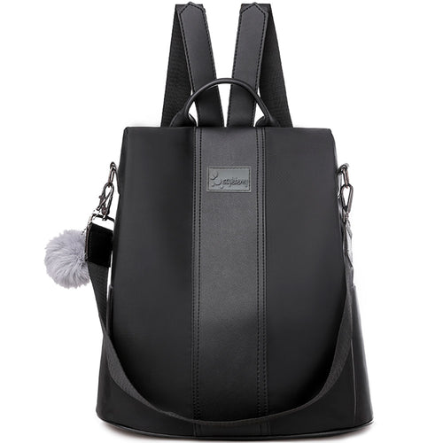 Styleberry Water Resistant Anti-theft Leather Laptop Backpack