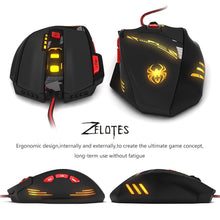 Load image into Gallery viewer, Zelotes T90 8000 DPI 8 Button Multi Colour USB Wired Gaming Mouse | Monthly Madness