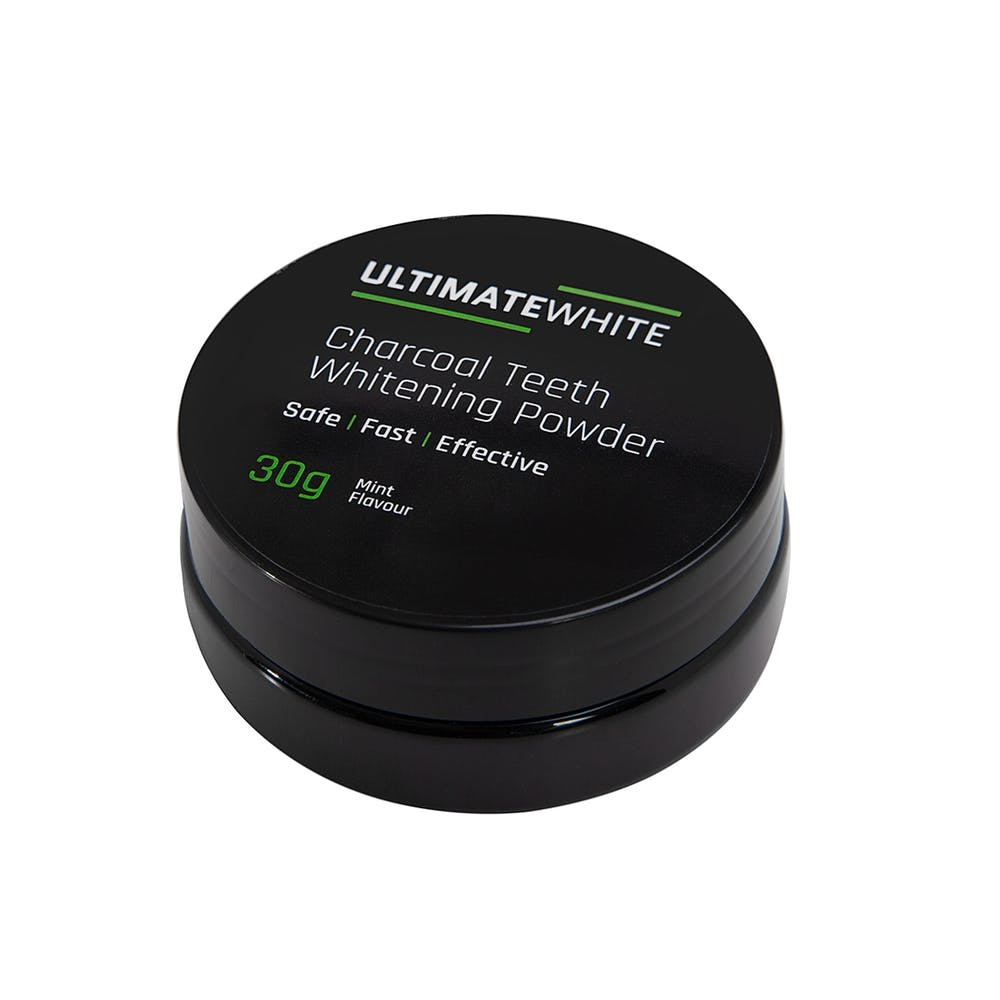 Ultimate White Activated Charcoal Teeth Whitening Powder & Toothbrush Set | Monthly Madness