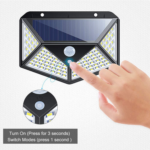 Lumina 100 LED Solar Powered Motion Sensor Lights
