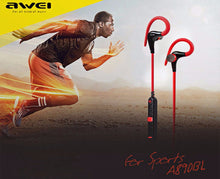 Load image into Gallery viewer, Awei A890BL Wireless Bluetooth Sports Earphones - Black | Monthly Madness