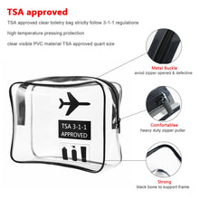 Load image into Gallery viewer, Transparent Travel Toiletry Bag - 2 Set | Monthly Madness
