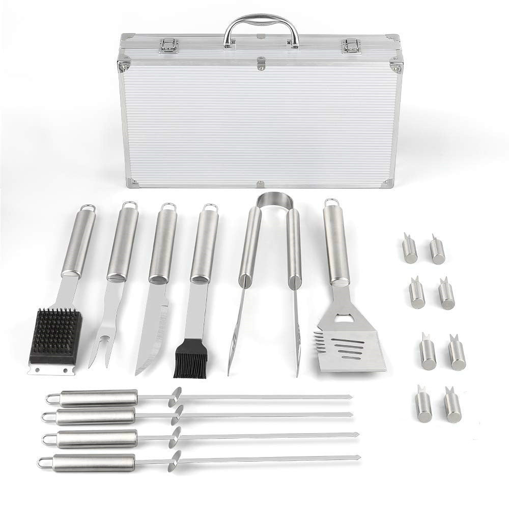 KitchenFX 10pc Stainless Steel BBQ Braai Grill Tool Set | Monthly Madness