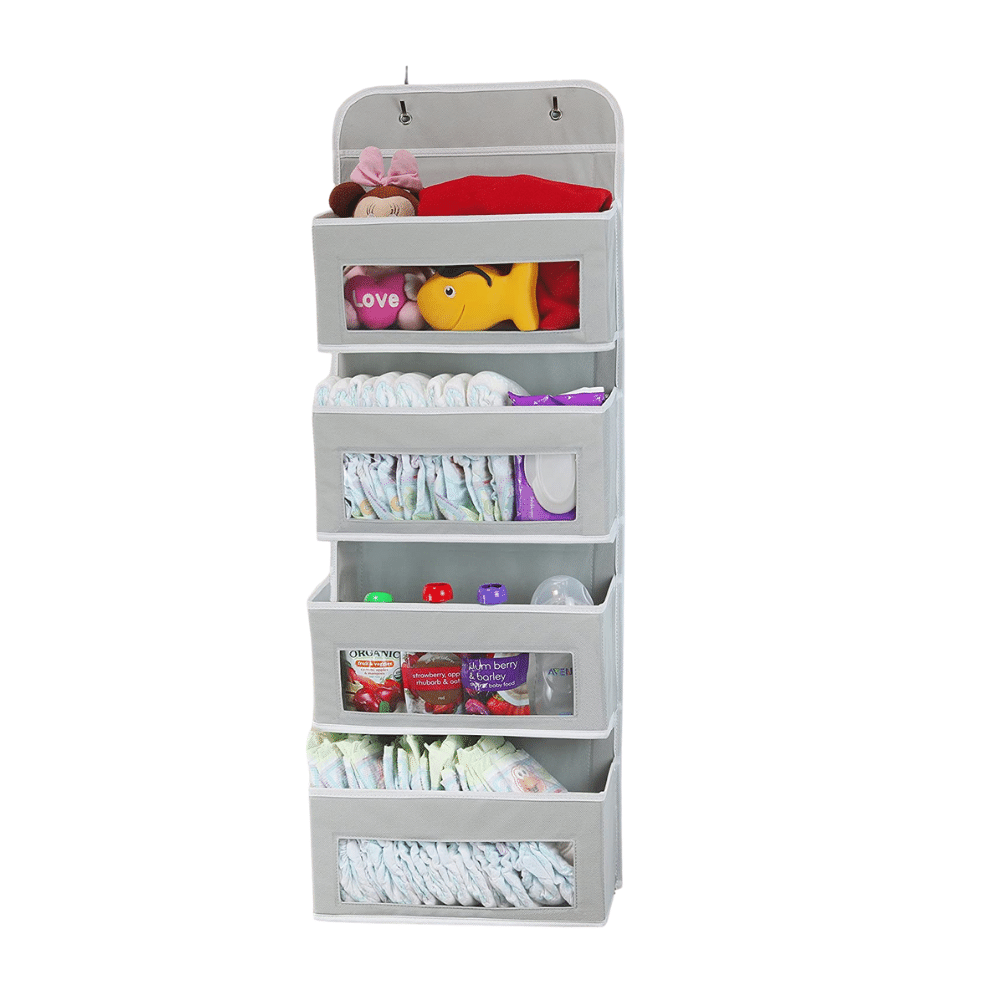 Maisonware Hanging Organiser with 4 Clear Pockets