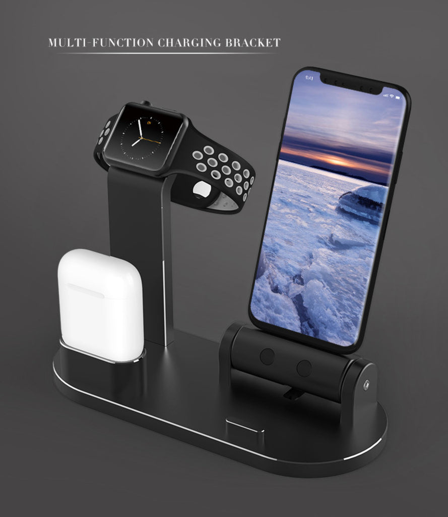Ntech 3 in 1 Charging Dock Station for Apple Watch Airpods and iPhone | Monthly Madness
