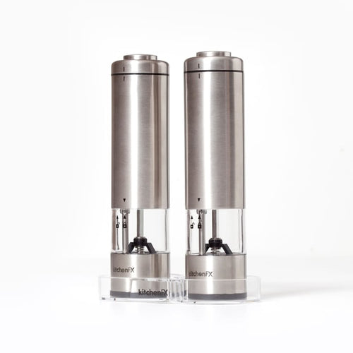 KitchenFx Salt and Pepper Electronic Grinder Set
