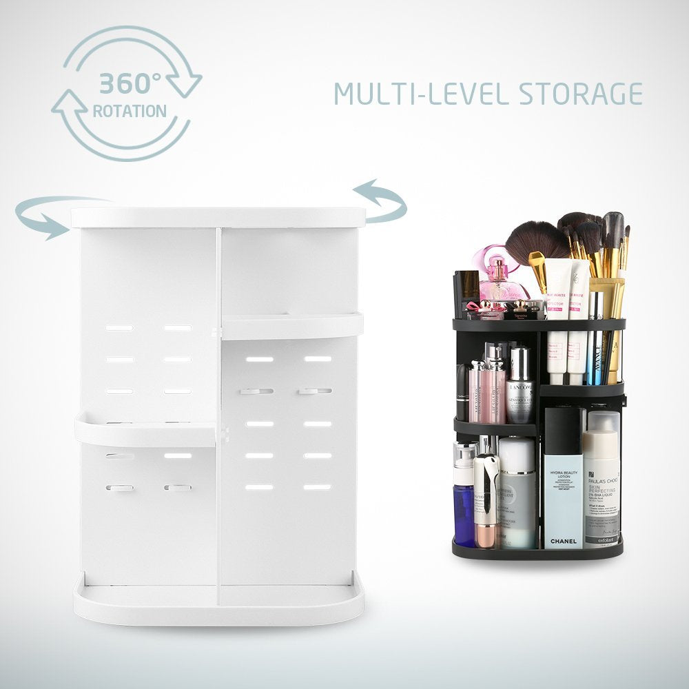 Jerrybox Transparent Rotating Adjustable Makeup Organizer Storage Box | Monthly Madness