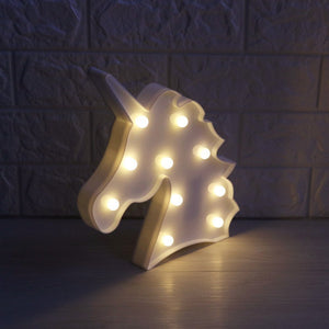 Unicorn Head Marquee LED Light | Monthly Madness