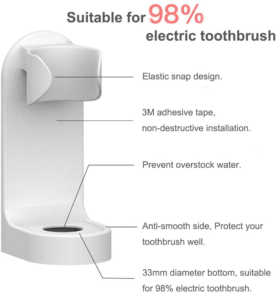 Maisonware Electronic Plastic Toothbrush Holder