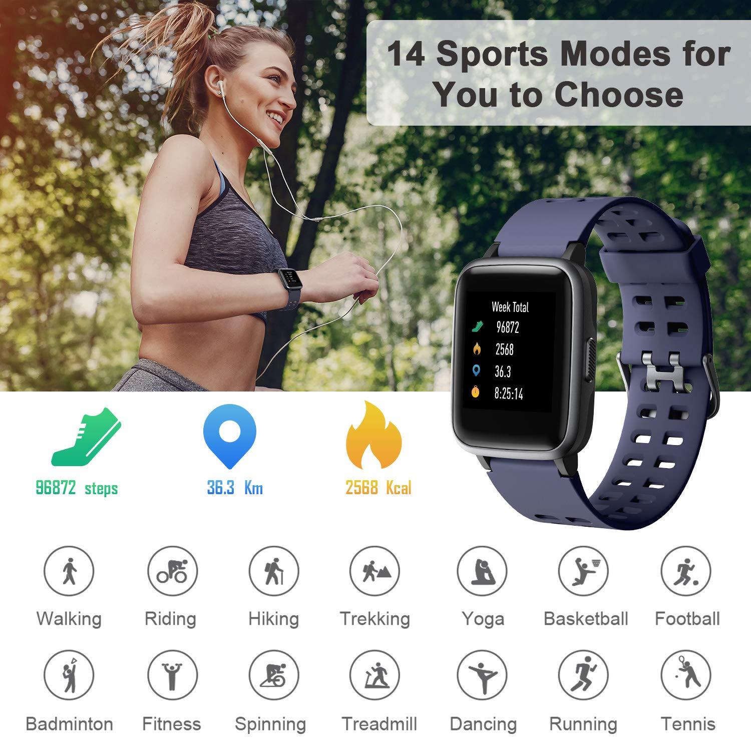 Ntech Veryfit ID205 Fitness Tracker Smart Watch With Heartrate Monitor | Monthly Madness