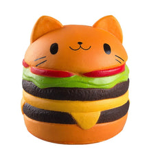 Load image into Gallery viewer, Gigglebread Jumbo Squishy - Cat Burger | Monthly Madness