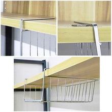 Load image into Gallery viewer, HomeFX Under Cabinet Storage Shelf Basket 2 Set | Monthly Madness