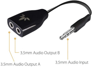 Avantree TR302 Two Way Splitter 3.5mm Dual Headphone Jack | Monthly Madness