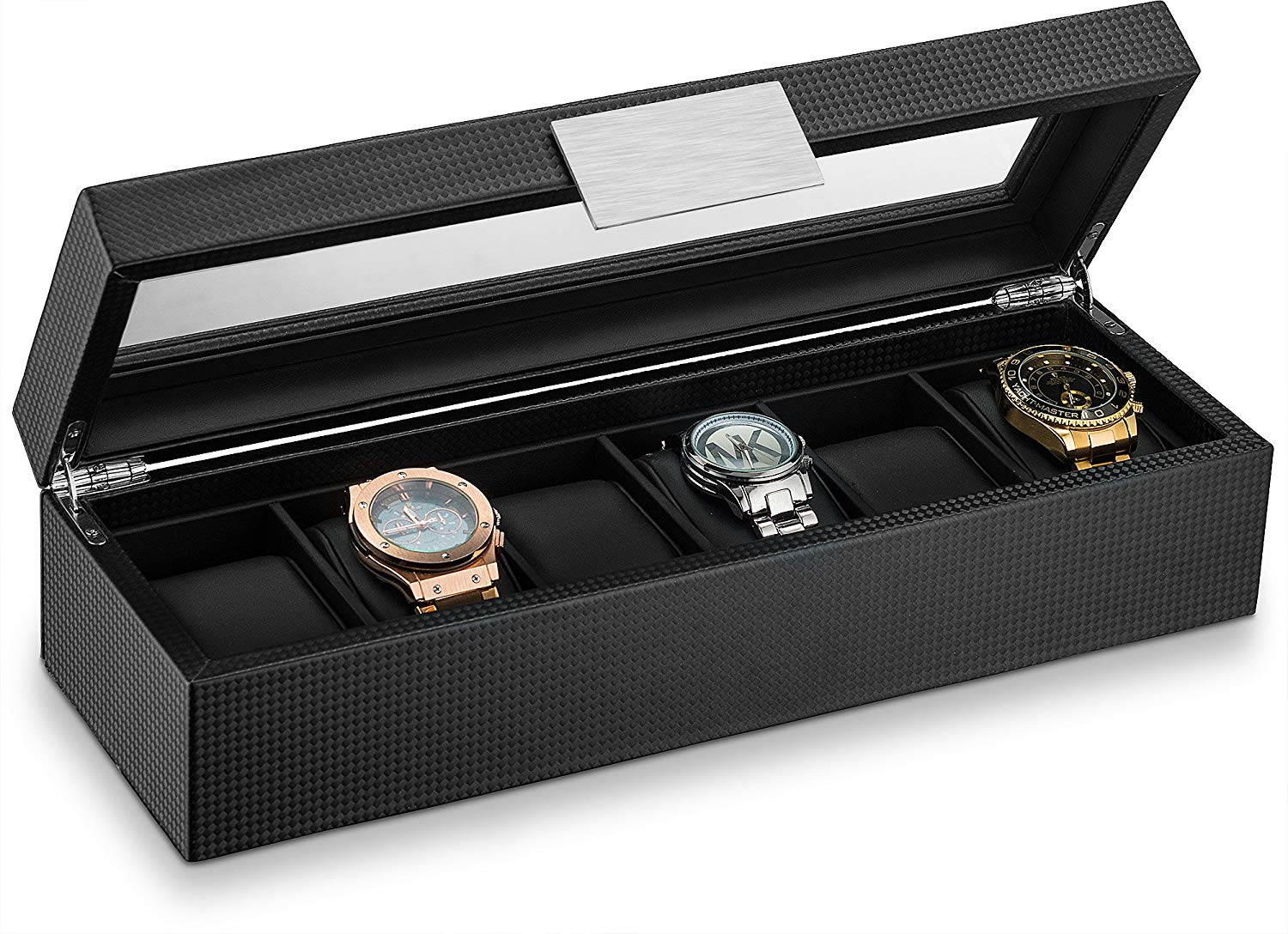 Triton Luxury Carbon Fibre 6 Slot Luxury Watch Organiser | Monthly Madness