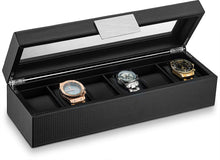Load image into Gallery viewer, Triton Luxury Carbon Fibre 6 Slot Luxury Watch Organiser | Monthly Madness