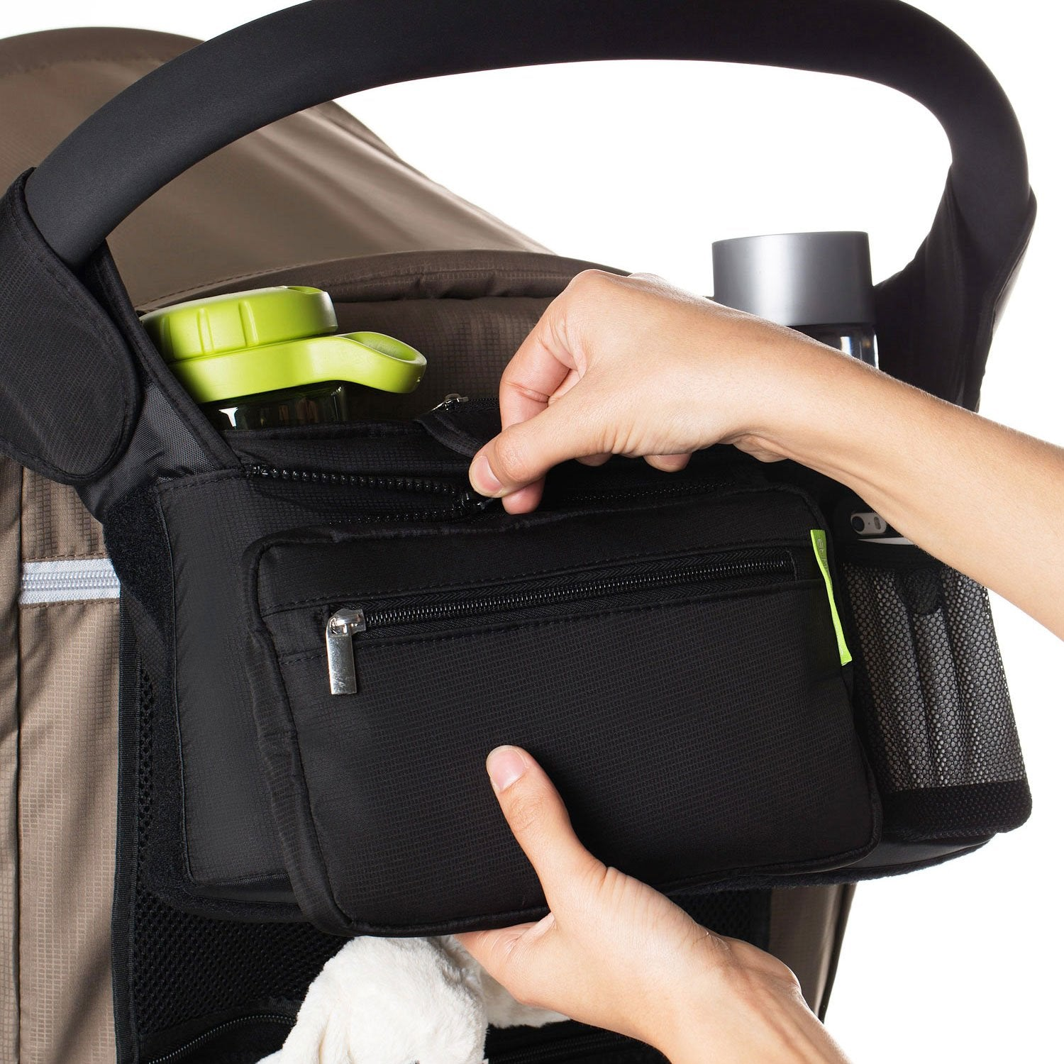 JuniorFX Baby Stroller Black Organiser Bag