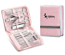 Load image into Gallery viewer, Styleberry 26 Piece Nail Kit in Foldable Zip Case