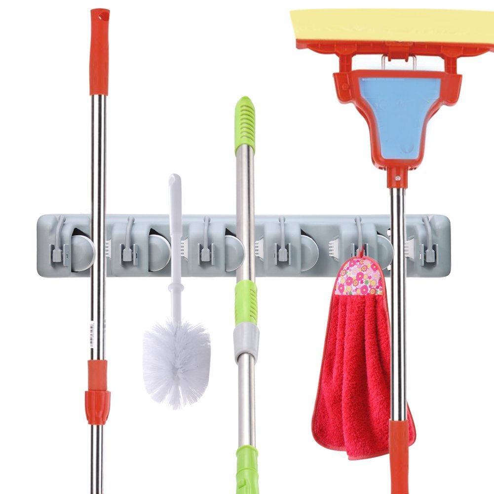 Broom Holder & Garden Tool Organizer for Mop Handles | Monthly Madness