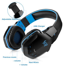 Load image into Gallery viewer, Kotion B3505 Bluetooth Gaming Headphones - Blue | Monthly Madness