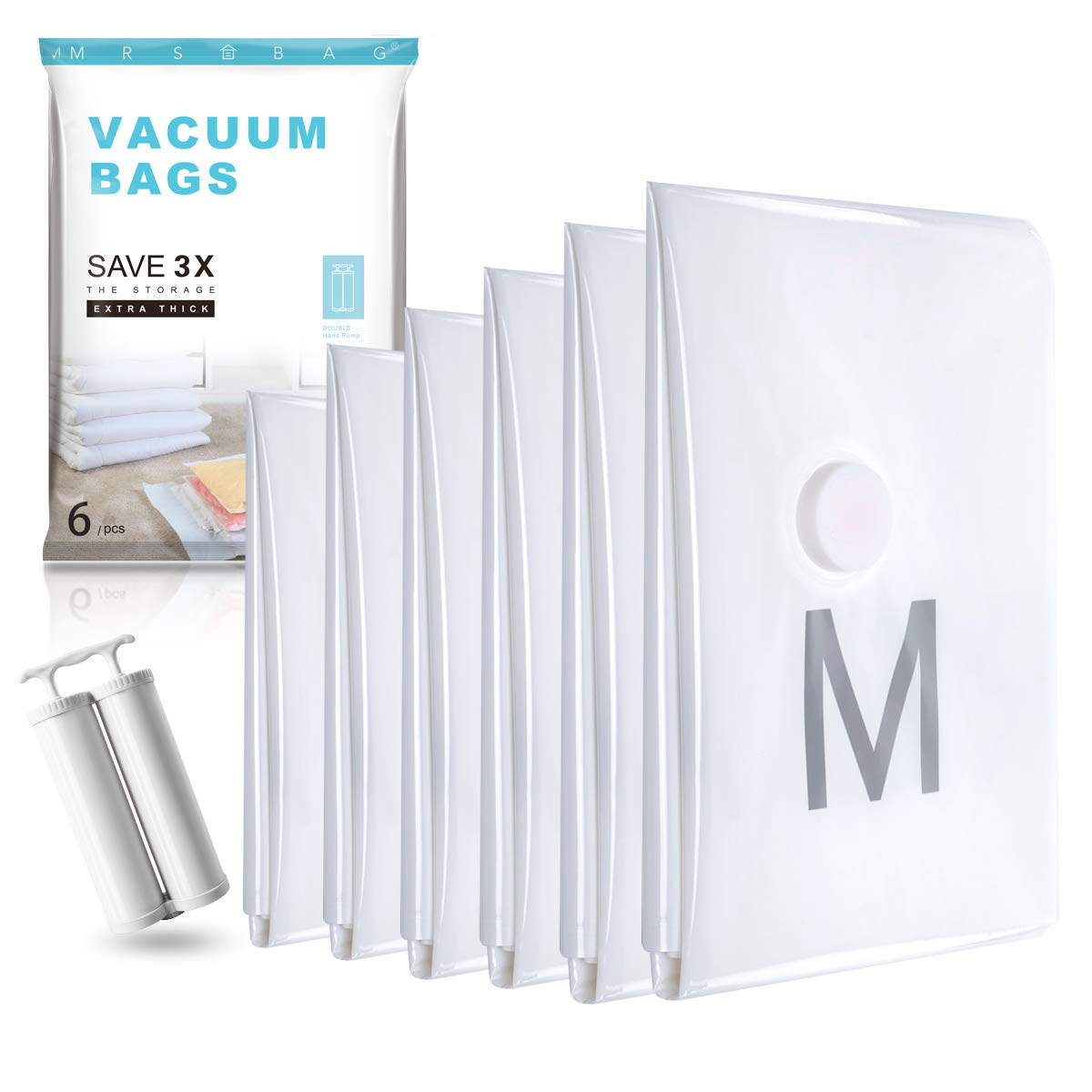 Mrs Bags Jumbo Vaccum Storage Bags - 6 Piece | Monthly Madness