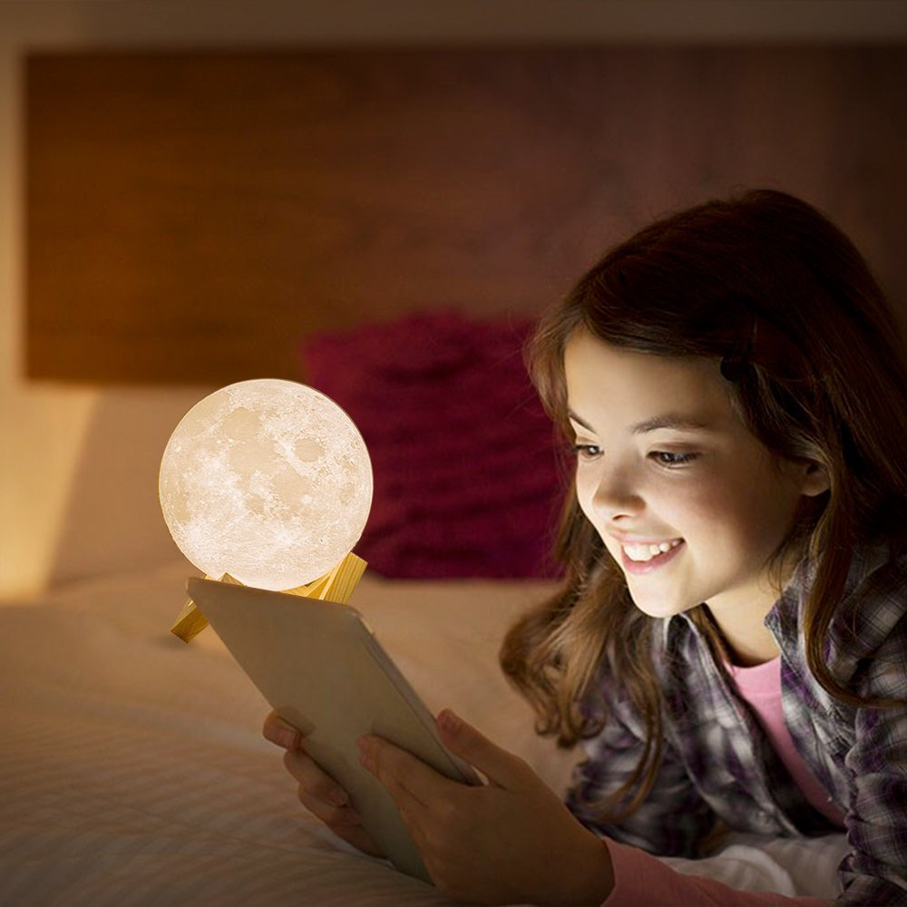 Lumina LED Colour Changing Moon Night Light Lamp | Monthly Madness