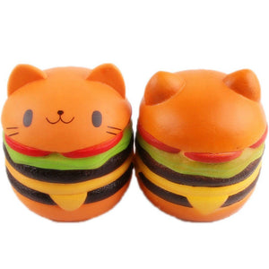 Gigglebread Jumbo Squishy - Cat Burger | Monthly Madness