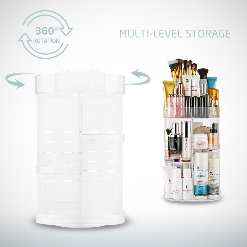 Jerrybox Extended Rotating Makeup Organiser - Transparent | Monthly Madness