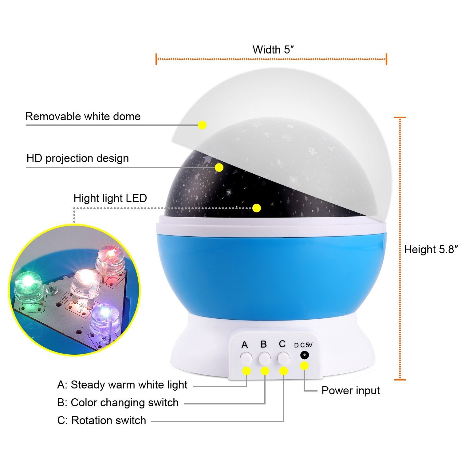 Tinytot Star Galaxy Rotating Night Light | Monthly Madness