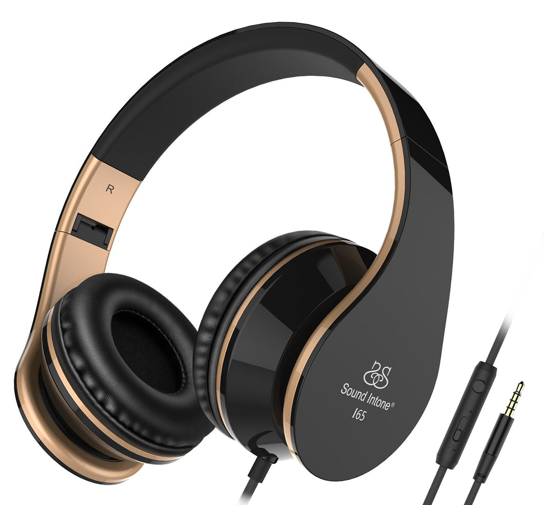 Sound Intone I65 Foldable Headphone with Mic & Volume Control - Black | Monthly Madness
