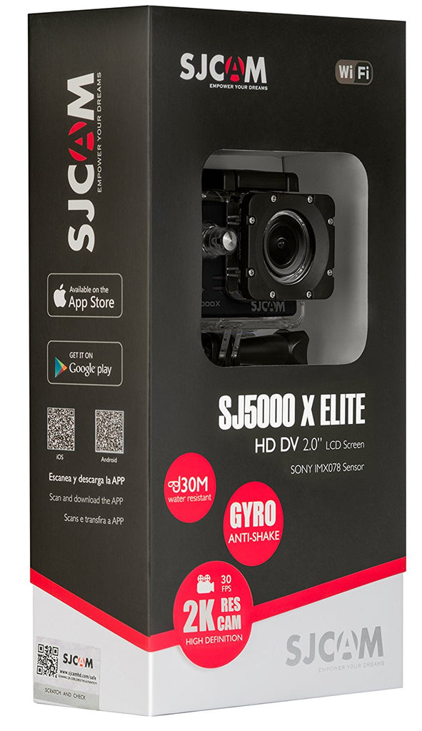 SJCAM SJ5000X Elite 4K Waterproof Action Camera - Silver | Monthly Madness