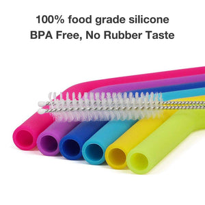 KitchenFX Pack of 6 Reusable Colourful Silicone Straws | Monthly Madness