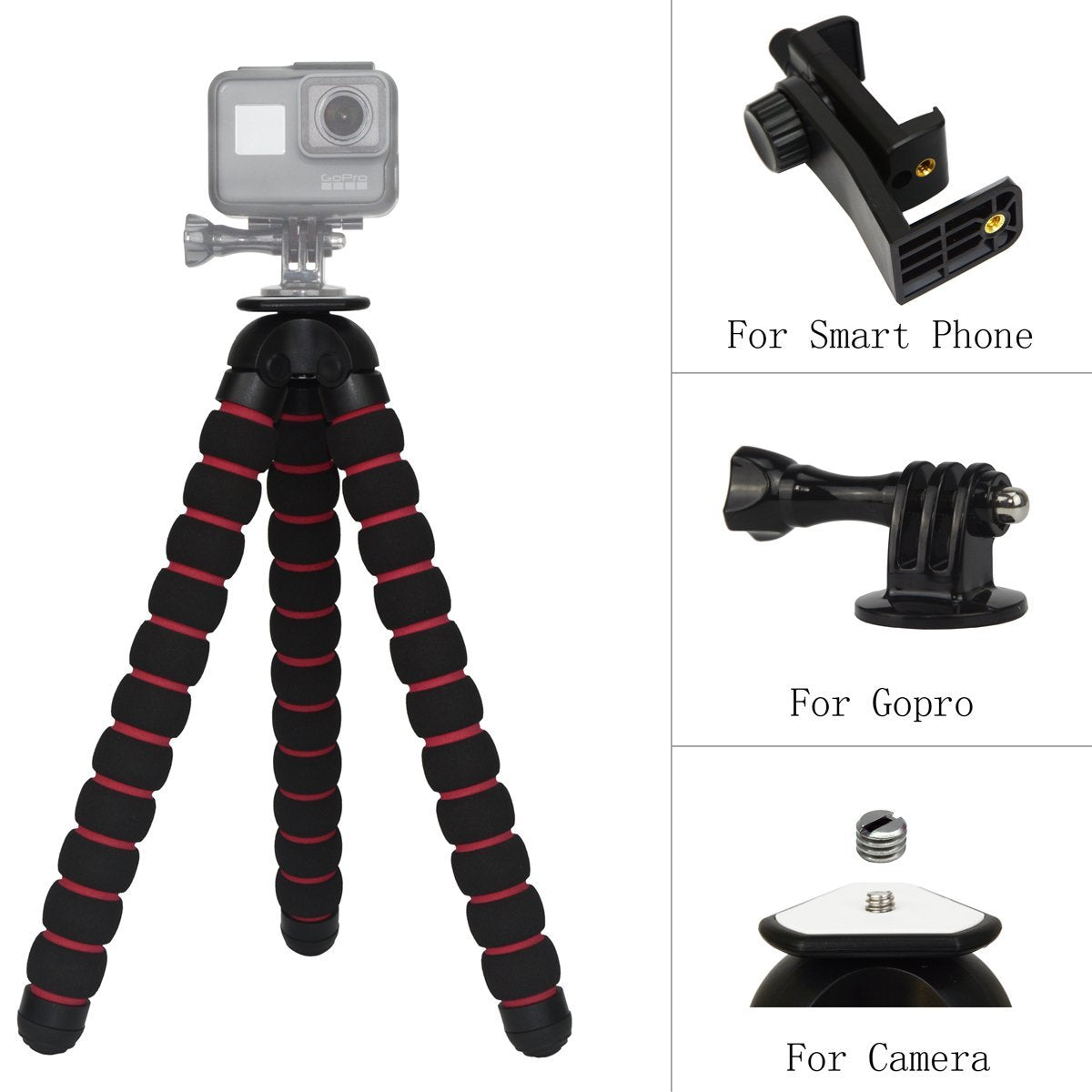 CRX Heavy Duty Gopro Tripod - Black & Red (Size: M) | Monthly Madness