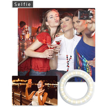 Load image into Gallery viewer, Lumina Clip on Portrait Selfie Ring Light for Smartphones