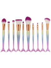 Load image into Gallery viewer, ABC Makeup Mermaid Makeup Brush - 10 Peice Set | Monthly Madness