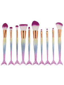 ABC Makeup Mermaid Makeup Brush - 10 Peice Set | Monthly Madness