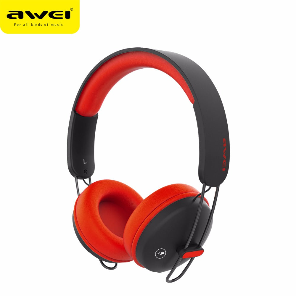 Awei A800BL Wireless Bluetooth Headphones with Detachable Cable & Mic - Black | Monthly Madness