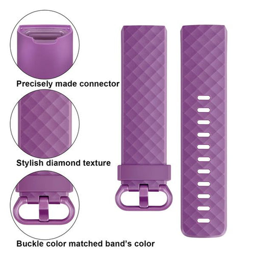 Linxure Fitbit Charge 3 Silicone Replacement Strap Small