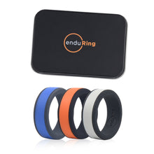 Load image into Gallery viewer, Enduring Mid Colour Silicone Wedding Ring Set of 3 | Monthly Madness