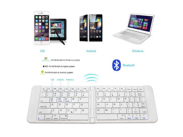 Rii K09 Ultra-Slim Mini Wireless Foldable Bluetooth Keyboard | Monthly Madness