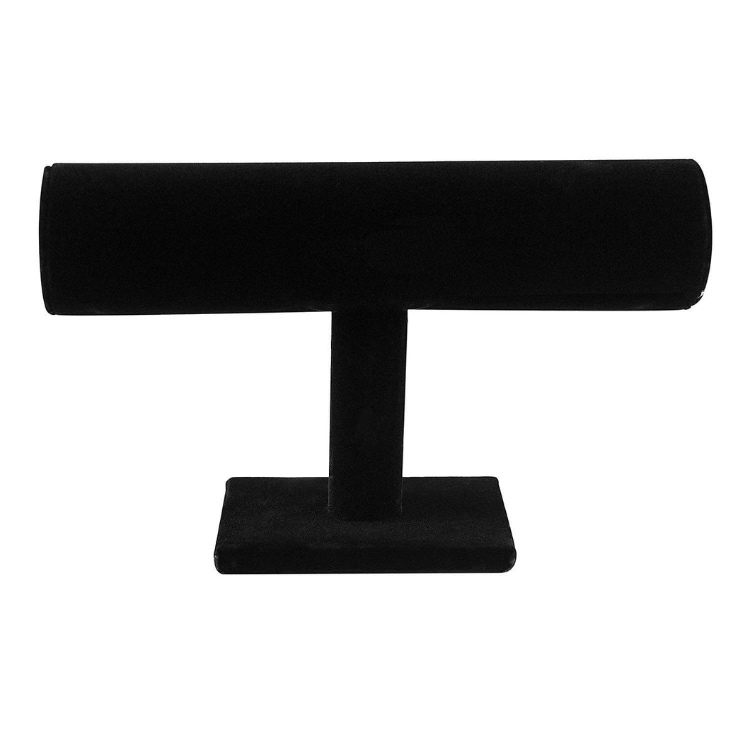 Black Velvet Hovering T-Bar Bracelet Necklace Jewellery Display Stand | Monthly Madness