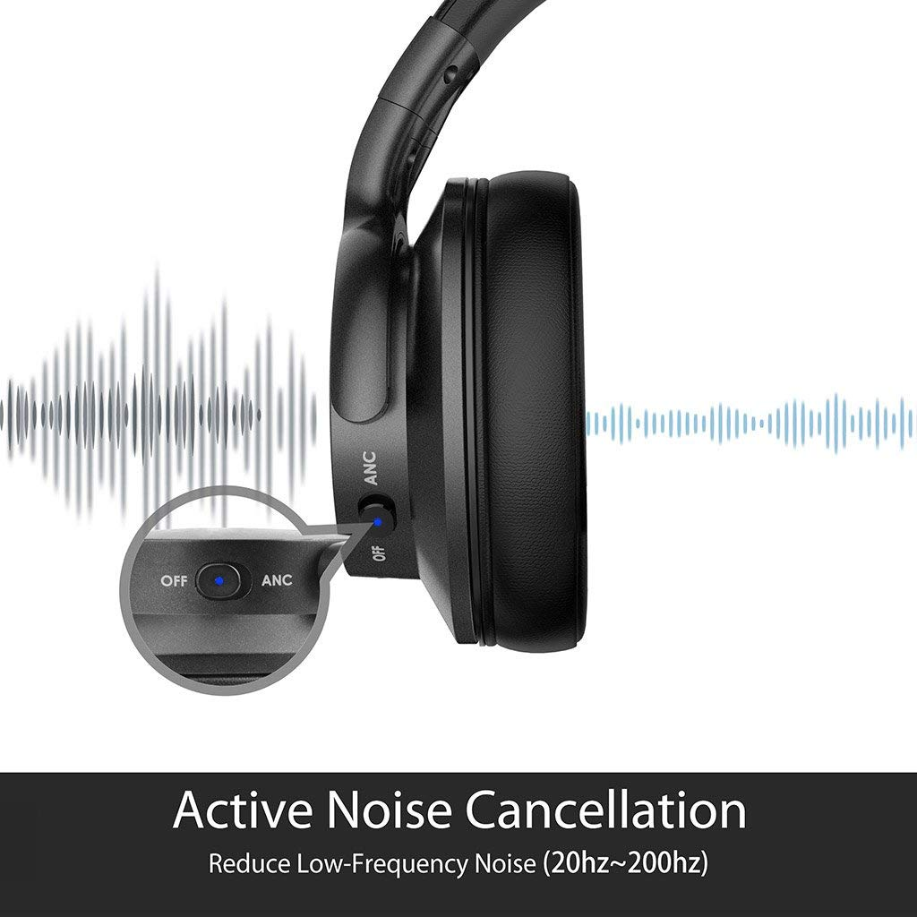 Avantree ANC031 Active Noise Cancelling Bluetooth Headset - Black | Monthly Madness