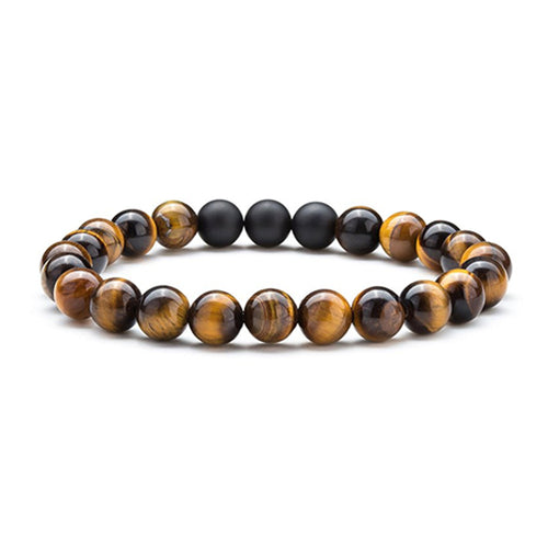 8mm Tiger Eye Bead Bracelet