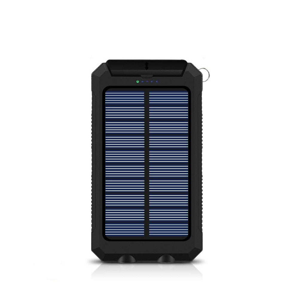 Lumina Solar Power Bank with Dual USB Charger & LED Light | Monthly Madness
