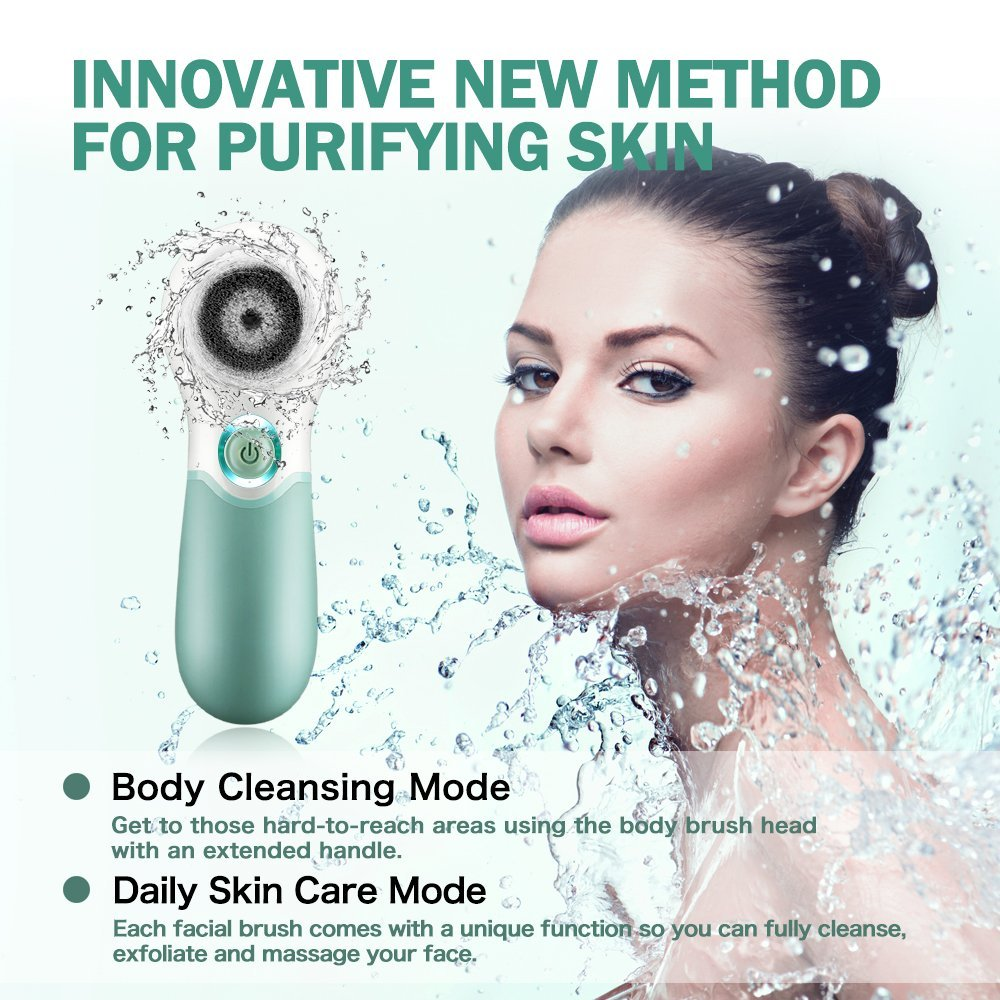 Lavany 7-in-1 Waterproof Electric Exfoliating Facial Brush | Monthly Madness