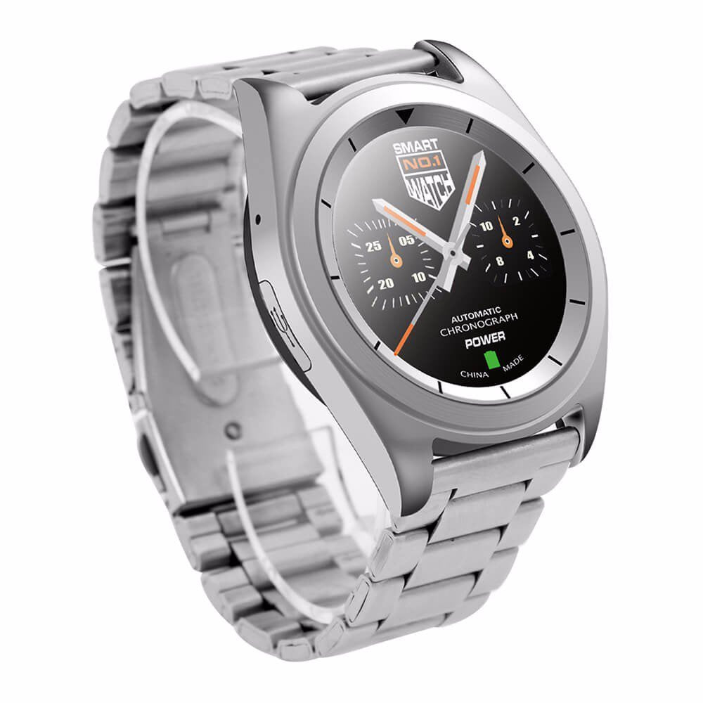 NO.1 G6 Bluetooth 4.0 Heart Rate Monitor Smart Watch - Silver Face  Steel Strap Smartwatch | Monthly Madness