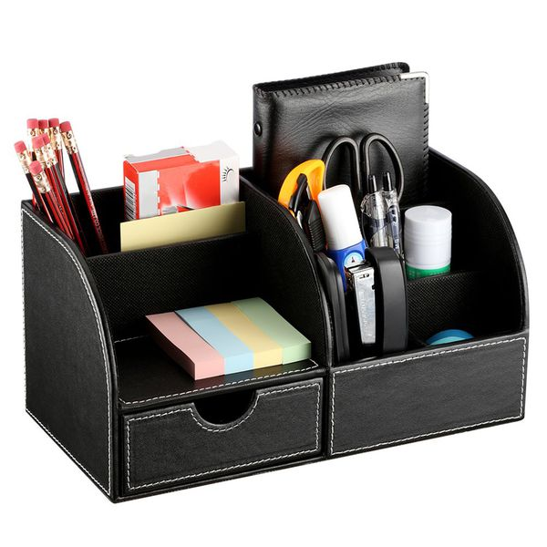 OfficeFX PU Leather Stationary Organizer with 7 Compartments | Monthly Madness